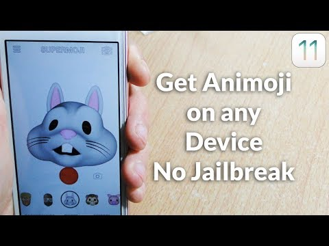 How to get Animoji on any  iOS 11 DEVICE (iPhone X feature)