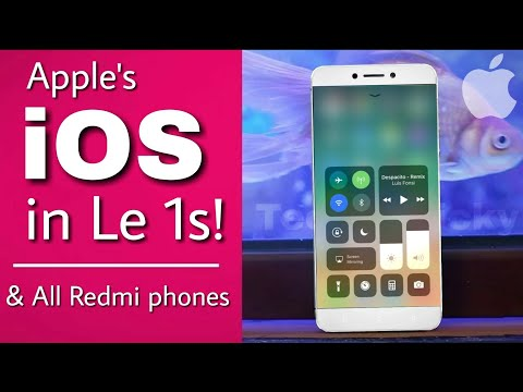 ☑ Apple iOS in le 1s & All Redmi phones! | iphone iOS in android | Best iOS interface ever!
