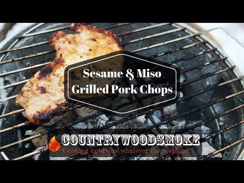 Sesame and Miso Grilled Pork Chops