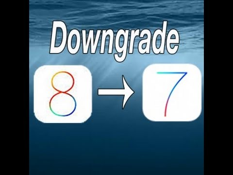 How to DownGrade iOS 8 to iOS 7.1.2