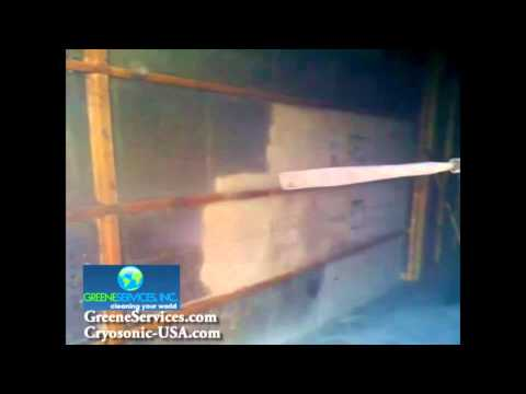 Soot Removal from Foundation Wall by Greene Services