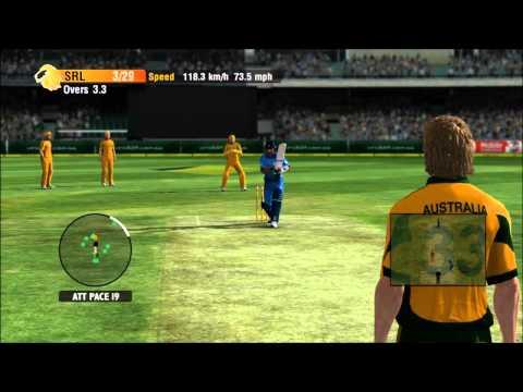 Cricket International 2010 Xbox 360 Gameplay (Australia Vs Sri Lanka)