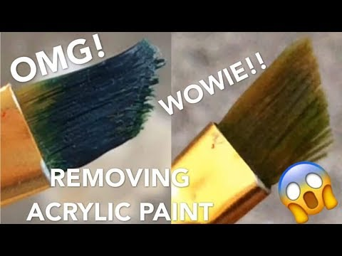 REMOVING DRY ACRYLIC PAINT WITH THINNER!?