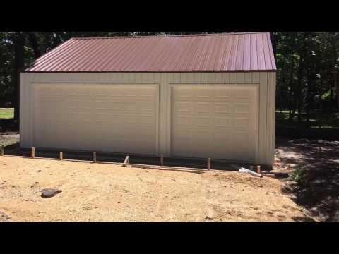 Building a Menards 3 Car Garage Kit Steel Building Steel Roof