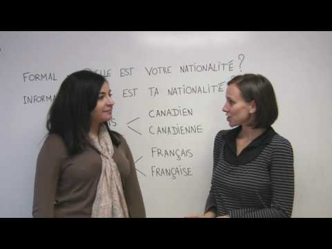 French for Beginners - How to talk about nationality in French
