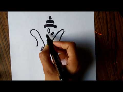 How to Draw Lord Ganesha Drawing for kids in 1 Minute
