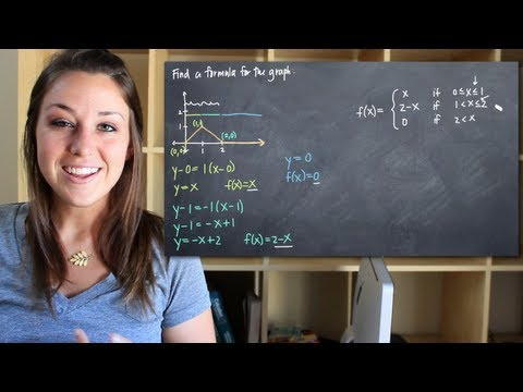 Modeling the equation of a piecewise defined function from its graph (KristaKingMath)