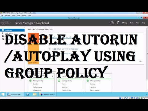 Disable autorun or autoplay using group policy