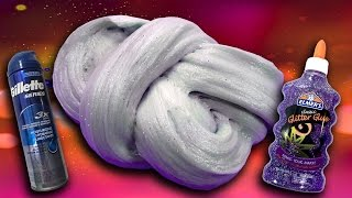 How To Make Fluffy Slime With Gel Shaving Cream And Glitter No Borax