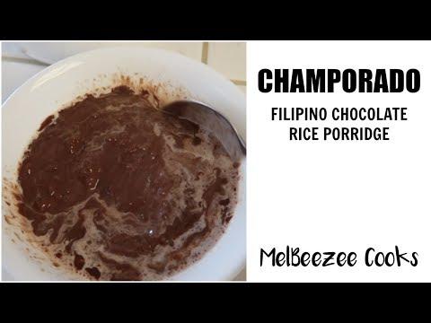 CHAMPORADO (FILIPINO CHOCOLATE RICE PORRIDGE) RECIPE | MelBeezee Cooks