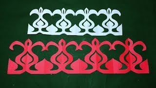 Paper Border For Decoration How To Make Easy Paper Cutting Border