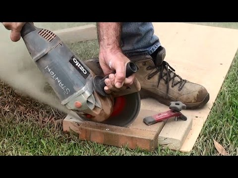 how to | cut paving bricks | jig for holding paving bricks | dave stanton