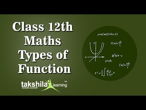CBSE Class12 Mathematics Online Classes |Types of functions | Maths | ICSE| NCERT Solution