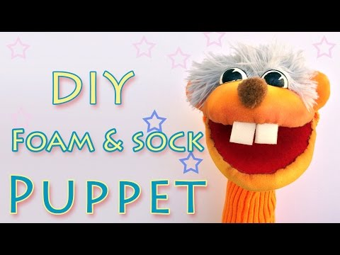 DIY Puppets - Foam and Sock Puppet - Ana | DIY Crafts.