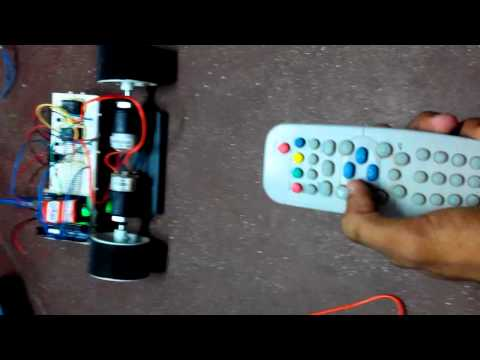 ir car controlled by tv remote