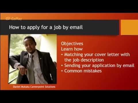 How to apply for a job by email