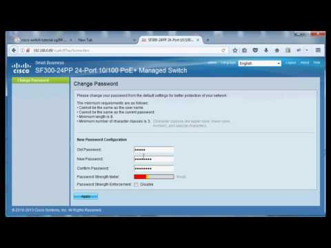 Cisco sf300 sg300  ip and user password change: Cisco-1