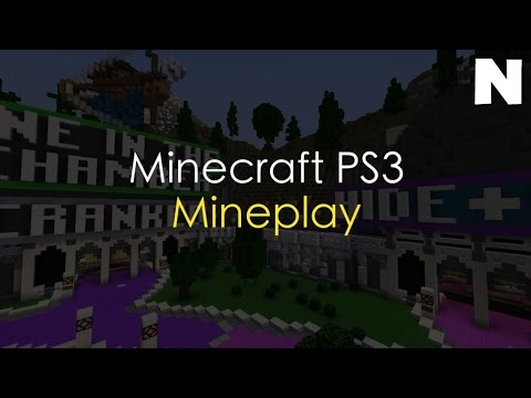 Minecraft PS3 Project Mineplay || The Hive MC on PS3 || NSPGamer