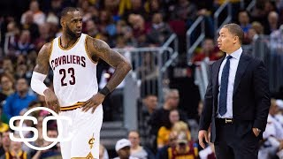 LeBron James asked if he thought Tyronn Lue could be fired   SportsCenter   ESPN