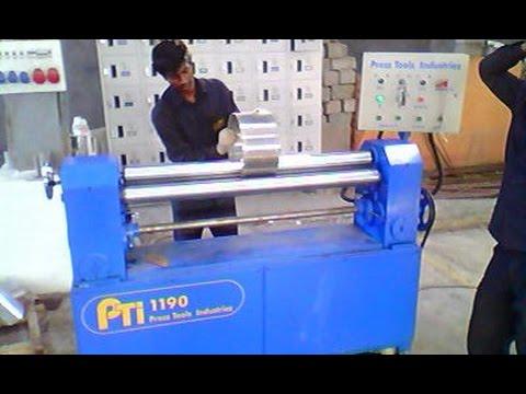 Sheet Rolling Machine - Pripinch both ends.