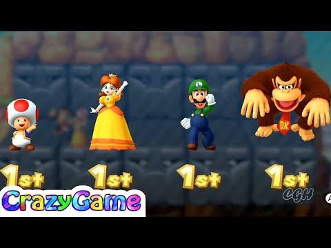 Mario Party 10 Coin Challenge - Toad vs Daisy vs Luigi vs Donkey Kong Gameplay | CRAZYGAMINGHUB