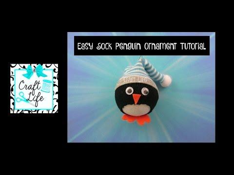 Craft Life ~ DIY No Sew Sock Penguin Ornament Tutorial