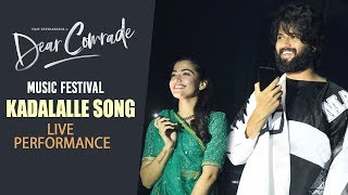 Kadalalle Song LIVE Performance | Dear Comrade Music Festival | Rashmika Mandanna