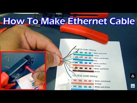 How to make CAT5 Ethernet Cable - Straight Through & Crossover (HD)