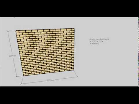 Brick Calculations -- Simple Wall