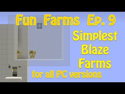 Minecraft 1.12: Simplest Blaze Farms (Fun Farms Ep. 9)