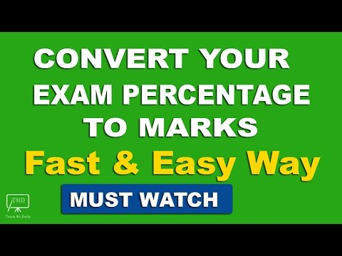 Percentage to Marks Conversion - In Hindi