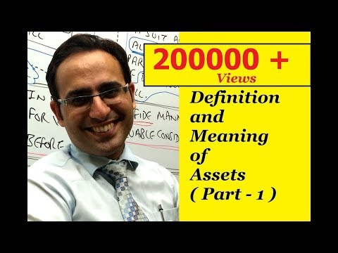 Definition, Meaning and Types of Assets (Part-1)