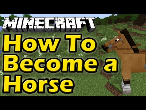 How To Become A Horse In Minecraft | WITH NO MODS!! | Easy Tutorial (Minecraft Role Play)