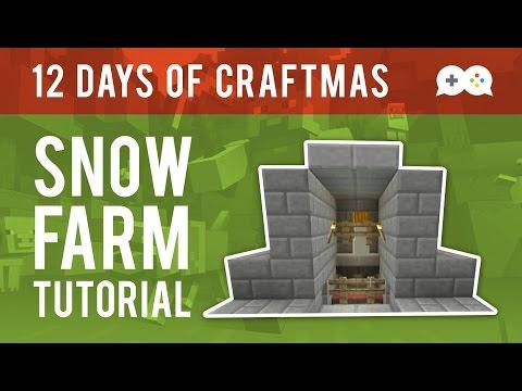 Minecraft Snow Farm Tutorial (Xbox One Xbox 360 PS3 PS4)