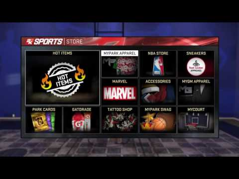 NBA 2K16 how to change clothes and my style 360 dunks