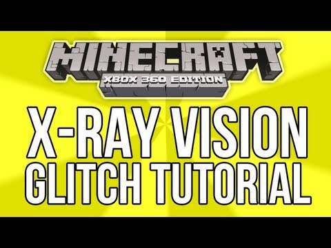 Minecraft (Xbox 360) - X-RAY VISION GLITCH TUTORIAL! - (How To Find Caves, Mob Spawners & Slimes)