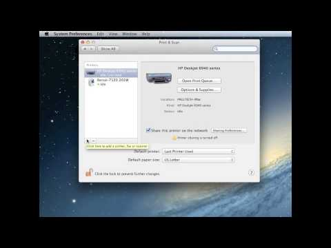How to  connect network printer for Mac