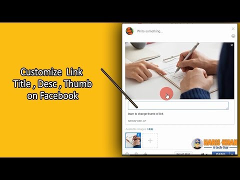 Customize Link title desc and thumb image on facebook
