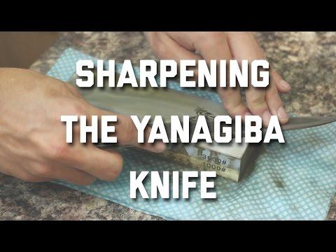 SHARPENING THE YANAGIBA KNIFE (JAPANESE SASHIMI KNIFE)