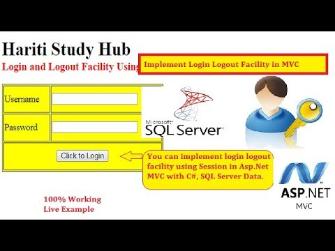 Implement User Login Logout Facility with SQL Database in Asp.Net MVC   Hindi   Free Online Classes