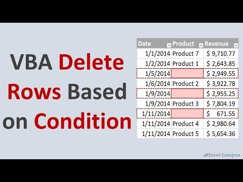 VBA Macro to Delete Rows Based on Cell Values