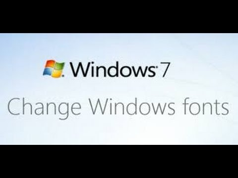 How to change windows 7 Font,size,color of task bar and writing setting.