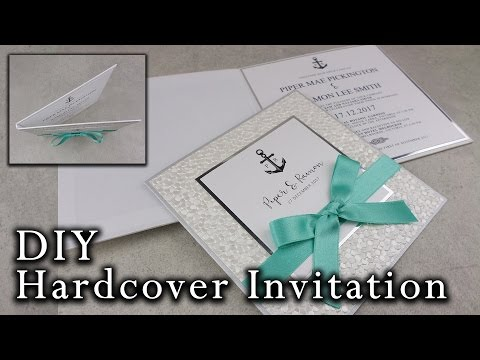 DIY Nautical Hardcover Invitation | Elegant Beach Wedding Invitations