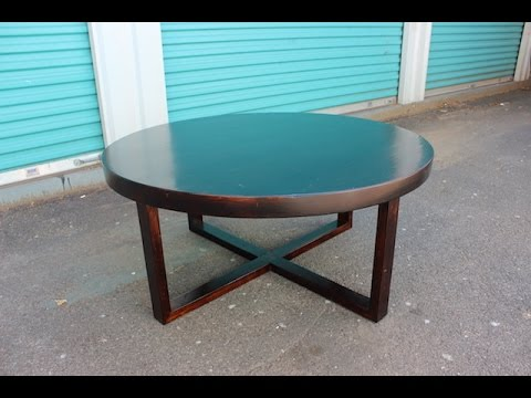How to make a round wood coffee table (easy peasy)