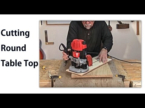 How to Make a Round Table Top -   woodworkweb