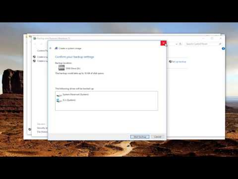 How To Create A System Image Backup In Windows 10/8/7