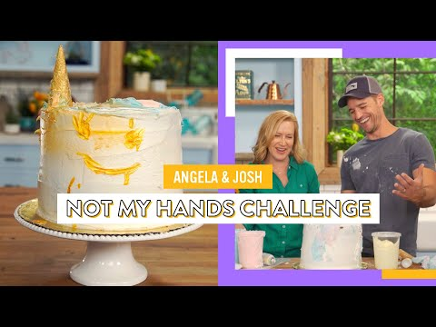 Not My Hands Challenge with Angela Kinsey & Josh Synder