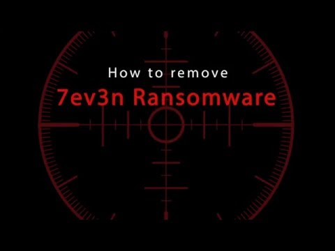 7ev3n Ransomware removal