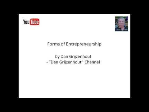 Forms of Entrepreneurship