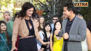 Gina Carano vs. Mario Lopez at The Grove